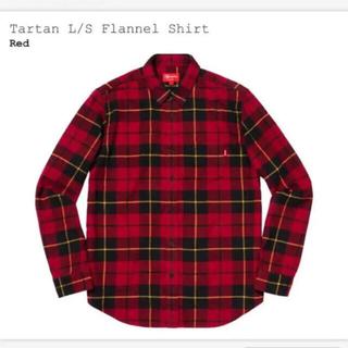 シュプリーム(Supreme)のSupreme Tartan L/S Flannel Shirt 赤(シャツ)