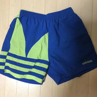 アディダス(adidas)のアディダス adidas ビンテージ デカロゴ ショーツ L(ショートパンツ)