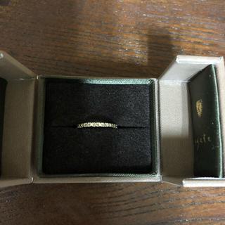 アガット(agete)のagate ブラックダイヤ K10(リング(指輪))