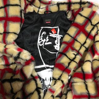 シュプリーム(Supreme)のSupreme Breasted Plaid Faux Fur Coat(毛皮/ファーコート)