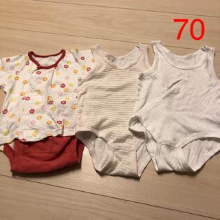 コンビ(combi)の女の子 肌着 70 まとめ売り(肌着/下着)
