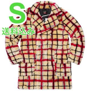 シュプリーム(Supreme)の希少 S Breasted Plaid Faux Fur Coat (その他)