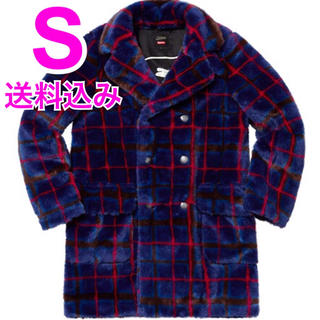 シュプリーム(Supreme)の希少S Breasted Plaid Faux Fur Coat (その他)