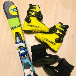 ROSSIGNOL - スキー板 子供 スキーブーツ スノーシューズ ヘルメット 一式 キッズ