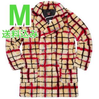 シュプリーム(Supreme)の希少 M Breasted Plaid Faux Fur Coat (その他)