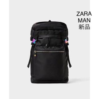 ザラ(ZARA)のZARA MAN ソフト生地 バック パック ブラック(バッグパック/リュック)