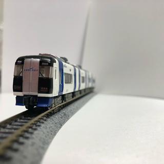 バンダイ(BANDAI)の① [BANDAI Bトレインショーティー 名鉄 ミュースカイ 組立済](鉄道模型)