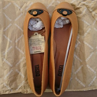 ディーゼル(DIESEL)の147 新品未使用 ディーゼル フラット  靴 ぺたんこ DIESEL パンプス(ブーツ)