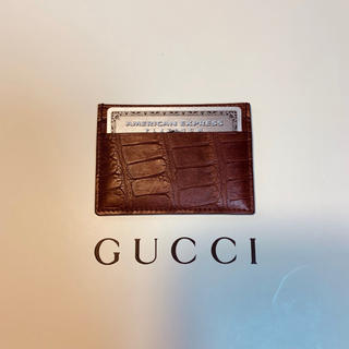グッチ(Gucci)の【定価12万円】GUCCI グッチ クロコダイル パスケース 【最終値下げ】(名刺入れ/定期入れ)