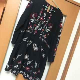 ZARA - ザラ お花刺繍 チュニック