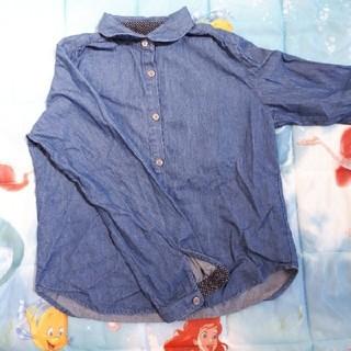 ユニクロ(UNIQLO)のユニクロ タンガリーシャツ デニムシャツ 130(ブラウス)