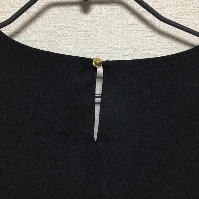 しまむら(シマムラ)の【美品】HK 上品なブラックトップス レディースのトップス(シャツ/ブラウス(長袖/七分))の商品写真