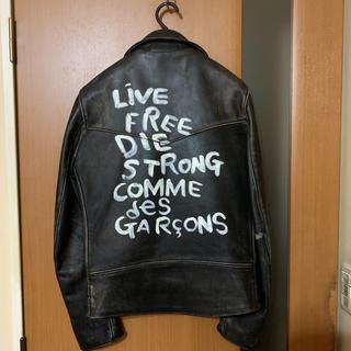 コムデギャルソン(COMME des GARCONS)の新品『コムデギャルソン』×『ルイスレザー』青山限定ライトニング レザージャケット(レザージャケット)