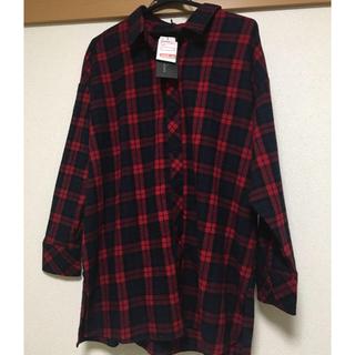 シマムラ(しまむら)の【新品】チェックシャツ(シャツ/ブラウス(長袖/七分))
