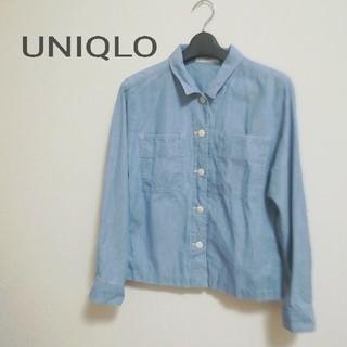 ユニクロ(UNIQLO)の送料込み!UNIQLO薄デニムジャケットアウターS(Gジャン/デニムジャケット)