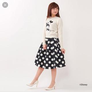 アンドクチュール(And Couture)のミニー ドットスカート D23 アンドクチュール 38号 (ひざ丈スカート)