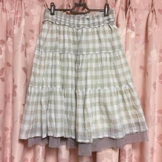 シンシア(cynthia)の新品☆cynthia☆チェック切り替えスカート(ひざ丈スカート)