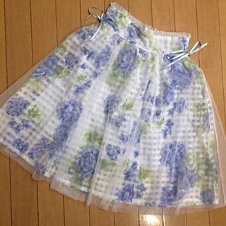 リズリサ(LIZ LISA)のリズリサ 花柄チュールスカート(ひざ丈スカート)