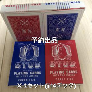 予約出品/ レアデック STUD PLAYING CARDS 4デックセット(トランプ/UNO)