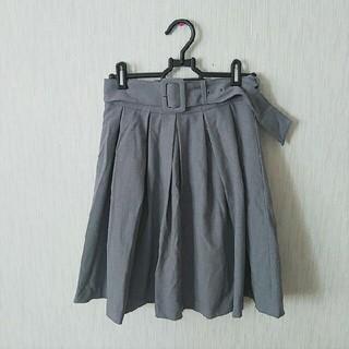 アメリエルマジェスティックレゴン(amelier MAJESTIC LEGON)のベルトつきスカート(ひざ丈スカート)