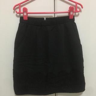 デンドロビウム(DENDROBIUM)の黒色スカート☆(ひざ丈スカート)