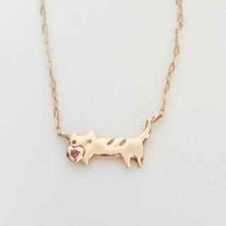 ツモリチサト(TSUMORI CHISATO)のツモリチサトジュエリー K10 ネコ ネックレス ねこ 猫(ネックレス)