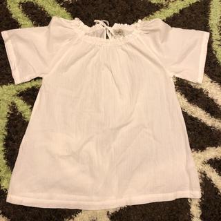 サマンサモスモス(SM2)のsamansa mos2 バックリボンオフショル半袖ブラウス(シャツ/ブラウス(半袖/袖なし))