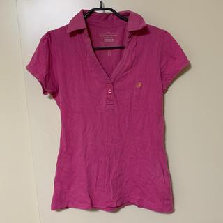 ジーユー(GU)のピンク ポロシャツ(ポロシャツ)