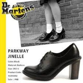 ドクターマーチン(Dr.Martens)の【激レア】Dr.Martens JINELLE UK4 黒 厚底 ハイヒール(ローファー/革靴)