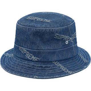 シュプリーム(Supreme)のSupreme Logo Denim Crusher Blue(ハット)