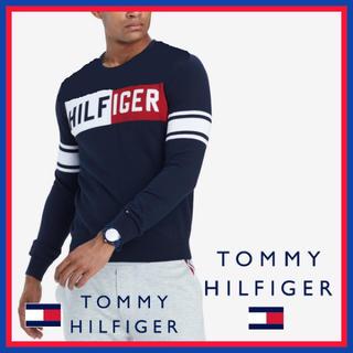 トミーヒルフィガー(TOMMY HILFIGER)の日本未入荷★トミーヒルフィガー クルーネック ロゴ セーター(ニット/セーター)