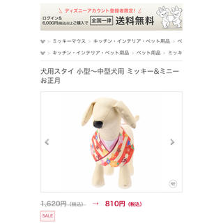 ディズニー(Disney)の犬用スタイ 小型〜中型犬 ミッキー&ミニー(犬)