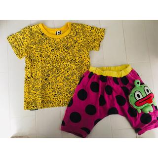 パーティーパーティー(PARTYPARTY)のPARTYPARTY 夏セット Tシャツ ハーフパンツ 90(Tシャツ/カットソー)