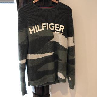 トミーヒルフィガー(TOMMY HILFIGER)のTOMMY FIGER ニット セーター カモ(ニット/セーター)