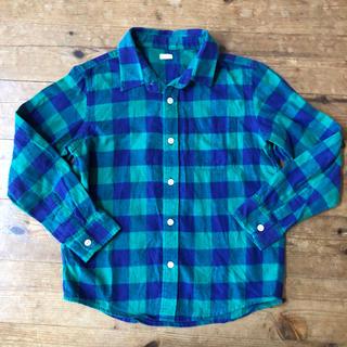 ジーユー(GU)のユニクロ GU  チェックシャツ  130(ブラウス)