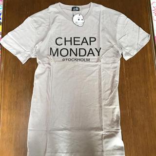 チープマンデー(CHEAP MONDAY)の値下げ チープマンデー cheap Monday 灰 M 新品(Tシャツ/カットソー(半袖/袖なし))