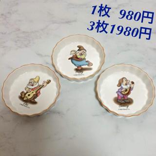 シラユキヒメ(白雪姫)の七人の小人 小皿 3枚セット 日本製 ディズニー 陶器製 食器 白雪姫(食器)