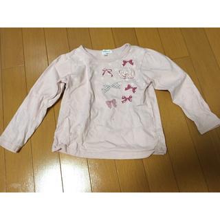 サンカンシオン(3can4on)の3can4on ピンクのカットソー110cm(Tシャツ/カットソー)