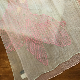 アッシュペーフランス(H.P.FRANCE)のアッシュ ペー フランス Fil Daraignee 刺繍スカーフ(ストール/パシュミナ)