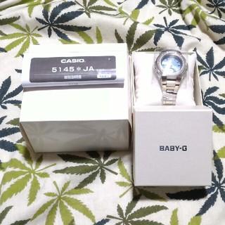 ベビージー(Baby-G)の未使用☆電波ソーラー 腕時計 CASIO Baby-G msg-3300d 水色(腕時計)