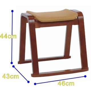 アウトレット スタッキングスツール 立ち上がり椅子 チェアー  DBR(スツール)