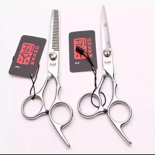【新品未使用・送料込】セルフヘアカット トリミング理美容師シザー 6インチセット(散髪バサミ)