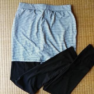 ジーユー(GU)のGUスカート付きスパッツ(レギンス/スパッツ)