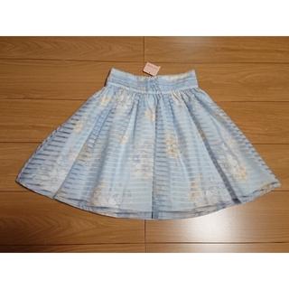 リズリサ(LIZ LISA)のリズリサ♡シアーボーダー花柄オーガンジースカート(ミニスカート)