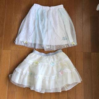 695aca152f237 ベベ(BeBe)のキスドロップ チュールスカート 120〜130(スカート)