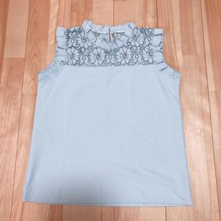 ジーユー(GU)のGU レースコンビフリルプルオーバー(シャツ/ブラウス(半袖/袖なし))