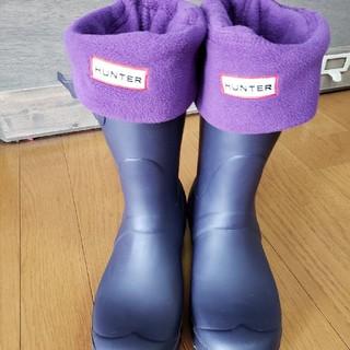ハンター(HUNTER)のハンター(中敷き靴下)紫☆L(ソックス)