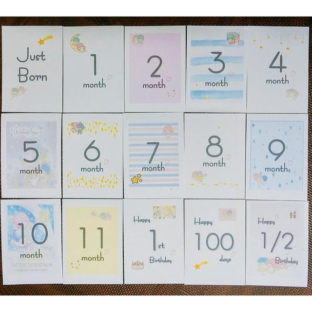 カード 手作り マンスリー 【無料DL】マンスリーカードテンプレートと我が家の子どもの写真収納法