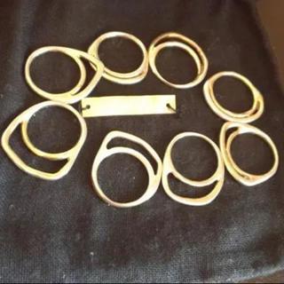 イオッセリアーニ(IOSSELLIANI)のイオッセリアーニ 8連リング ゴールド(リング(指輪))