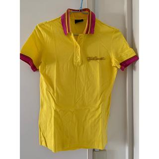ジャストカヴァリ(Just Cavalli)のJUST CAVALLI ポロシャツ 黄色(カットソー(半袖/袖なし))